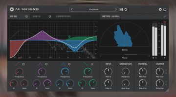 Oblivion Sound Lab Side Effects Plug-in manipuliert das Stereofeld