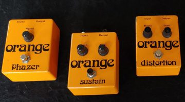 Orange Vintage Reissue Effekt Pedale Phazer Sustain Distortion