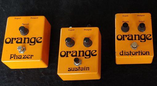 Orange Vintage Reissue Effekt Pedale Phazer Sustain Distortion