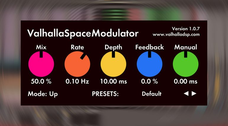 Kostenlos: Valhalla SpaceModulator - ein Flanger Plug-in für alle Fälle!