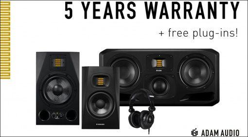 Adam Audio verschenkt VST-Plug-ins und erweitert die Garantie auf 5 Jahre