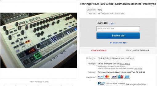 Behringer RD-9 Prototyp auf Ebay