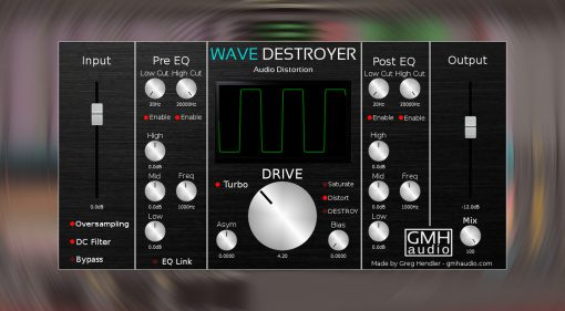 Kostenlos: GHM Audio Wave Destroyer - endlos optimierbares Distortion