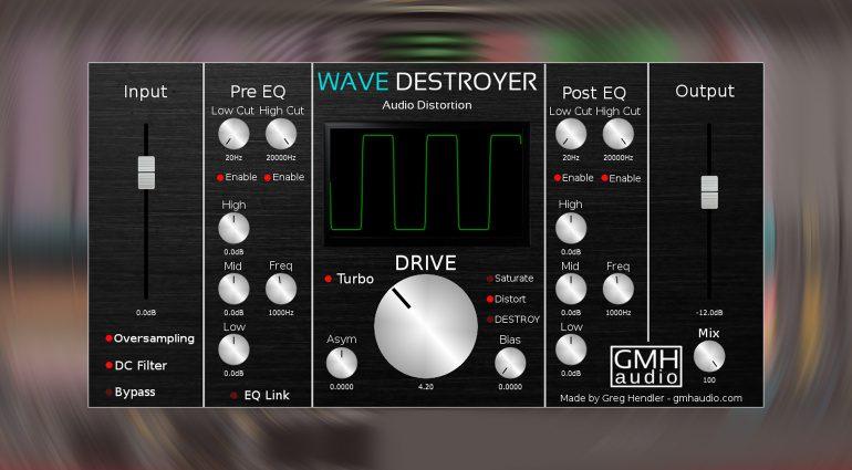 Kostenlos: GHM Audio Wave Destroyer - endlos optimierbares Distortion