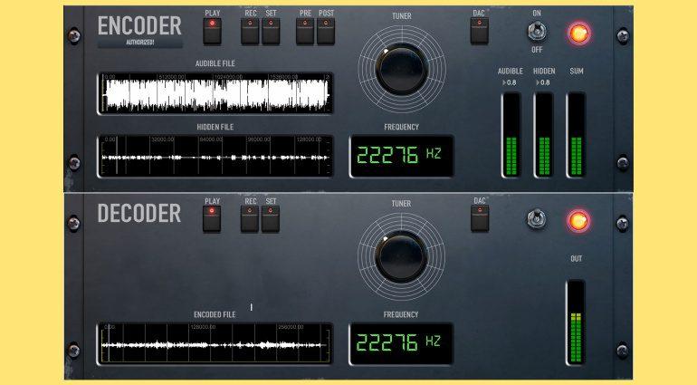 Giorgio Sancristoforo DECODER/ENCODER kann Audiodaten in euren Songs verstecken