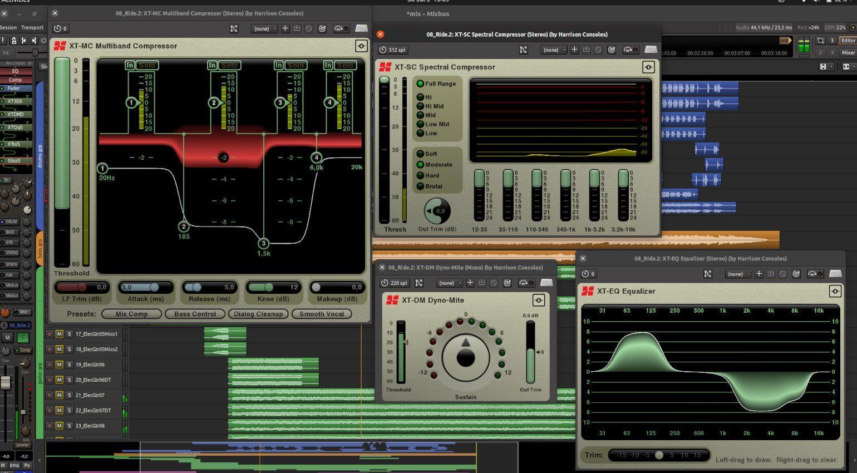 Harrison Mixbus 6 Plug-ins GUI Demo