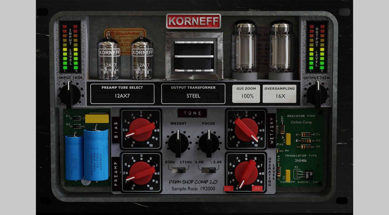 Korneff Audio Pawn Shop 2.0: so baut man sich virtuell einen eigenen Kompressor