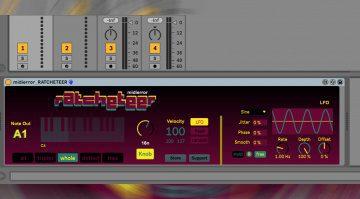 midierror RATCHETEER: halbautomatischer MIDI-Pattern-Generator für Ableton Live