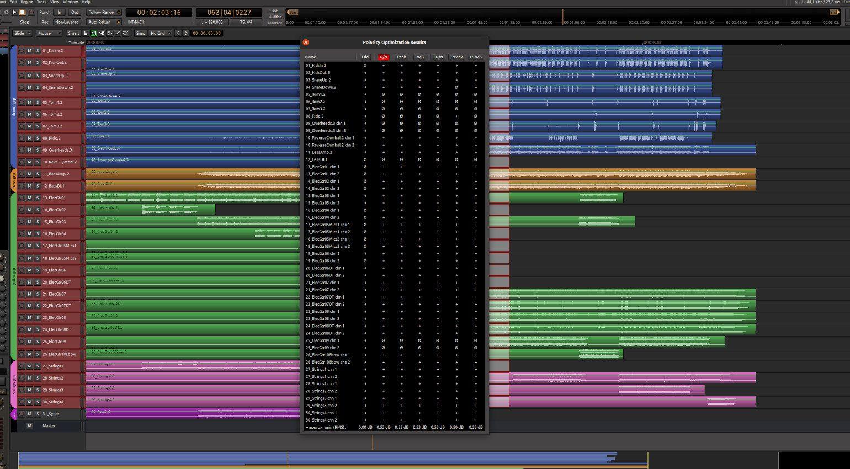 Mixbus 6 Optimize Polarity