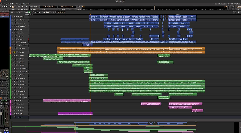 Mixbus 6 Projektansicht Editor