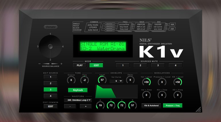 Kostenlos: Nils Schneider präsentiert K1v Plug-in - die Kawai K1 Emulation