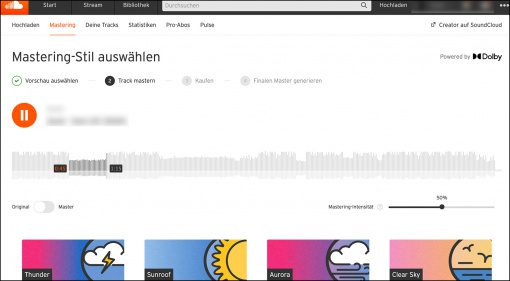Soundcloud mastert ab sofort eure Songs online!
