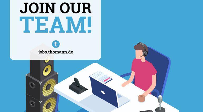 Thomann sucht einen Fachberater im Bereich PA