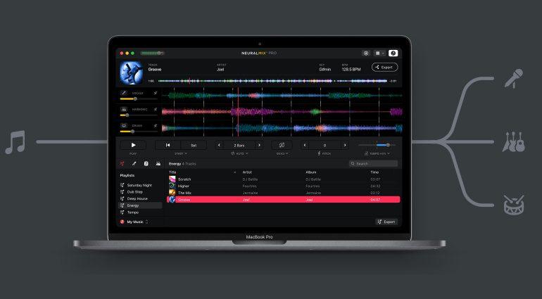 Algoriddim Neural Mix Pro ist ein KI-gestützter Musik-Player & Stem Editor für Produzenten, DJs und Musiker