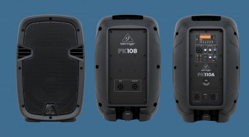 Neue Lautsprecher von Behringer: PK108, PK110, PK112, PK115,PK108A, PK110A,PK112A, PK115A