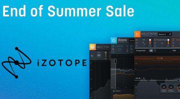 Deal: iZotope feiert den End-of-Summer mit über 70 Prozent Rabatt!
