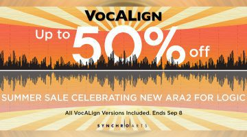 Deal: Synchro Arts VocALign Update bringt ARA-Support für Logic Pro und Rabatte!