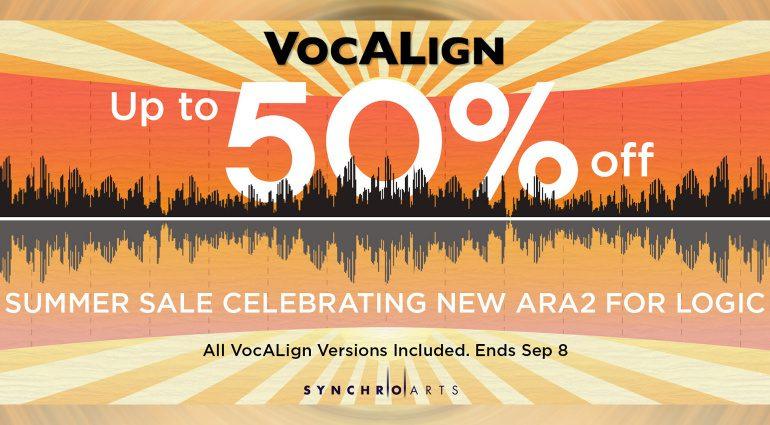 Deal: Synchro Arts VocALign Update bringt ARA-Support für Logic Pro und Rabatte!