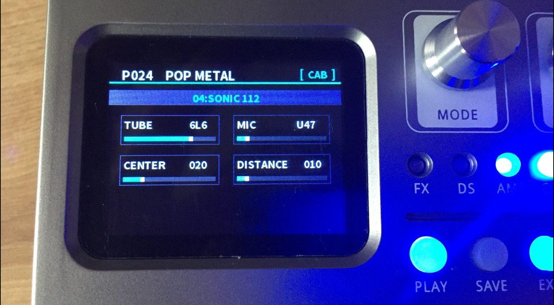 Harley Benton DNAfx GiT Multi Effekt Pedal Display