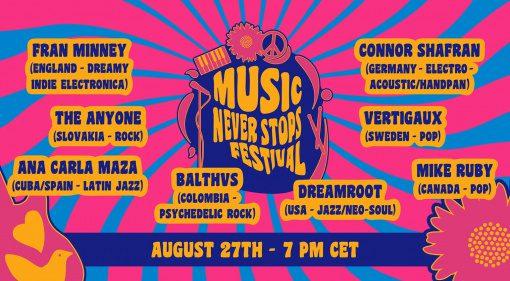Music Never Stops Festival: Thomann kürt die Gewinner und das virtuelle Konzert
