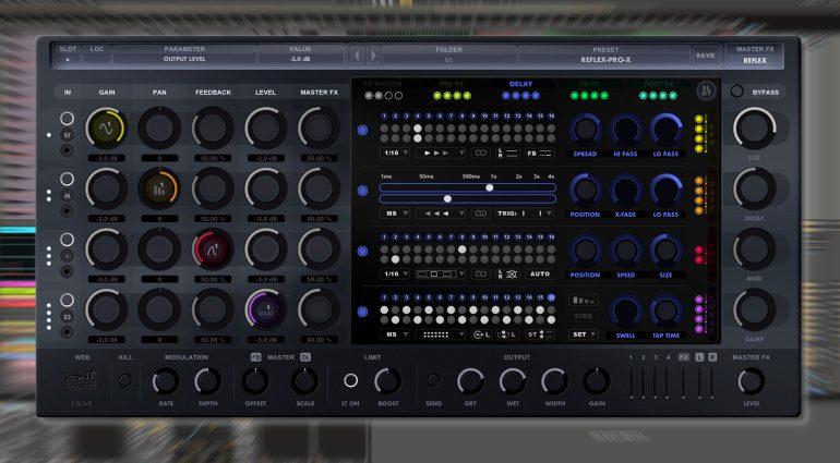 stw-audio Reflex-Pro-X: Multi-Delay Plug-in mit erweiterten Modulationen
