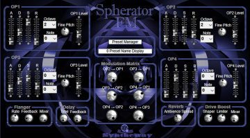 Syntheway Spherator: ein 4-Operator FM Synthesizer Plug-in für unter 40 Euro