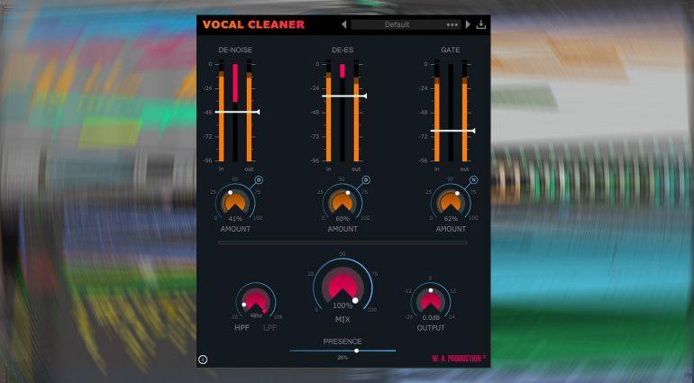 W.A. Production Vocal Cleaner: dieses Plug-in lässt eure Vocals glänzen