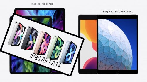 Apple iPad Air A14 - iPad A12 USB-C
