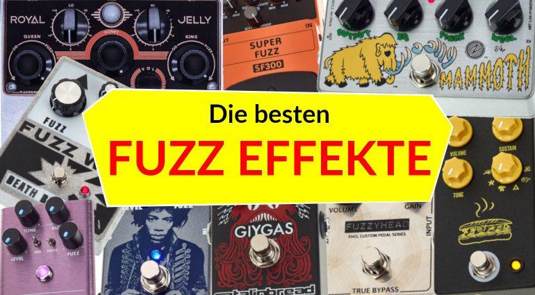 Die besten Fuzz Effekt Pedale Topliste Teaser