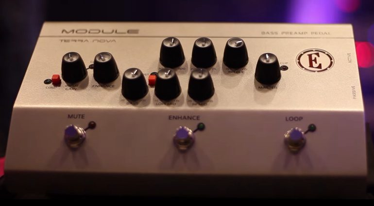 Eden Module Bass Preamp Pedal Front Stage