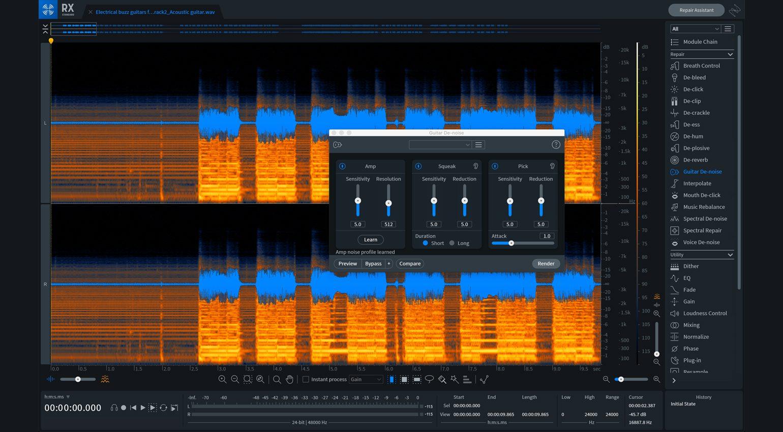 iZotope RX 8 Guitar De-noise