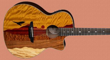 Luna Guitars Vista Eagle AE Tropical Wood