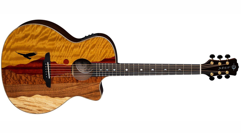 Luna Guitars Vista Eagle AE Tropical Wood Front