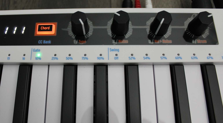 Die neue Chord-Sektion des KeyStep 37