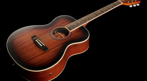Harley Benton CG-45E Vintage Sunburst Akustikgitarre Front Teaser