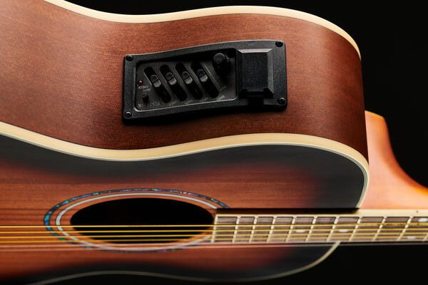 Harley Benton CG-45E Vintage Sunburst Akustikgitarre Preamp