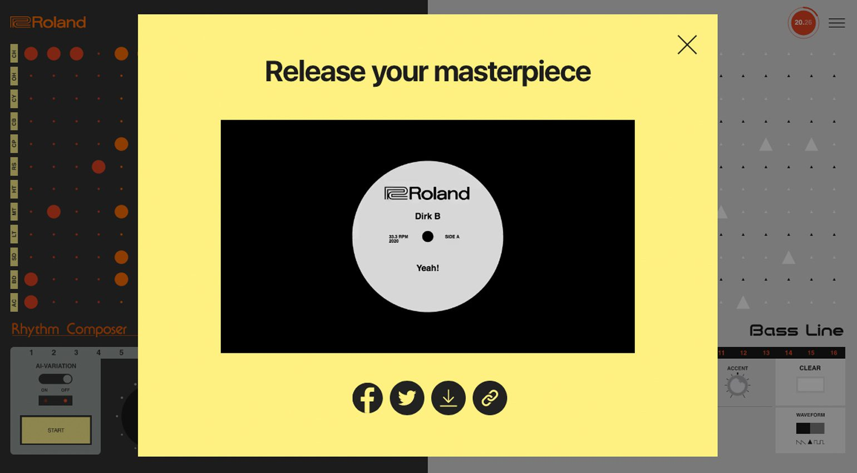 Roland 808303.studio Record Feature