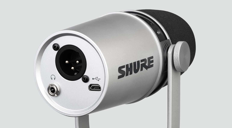Shure MV7 Silver Rückseite