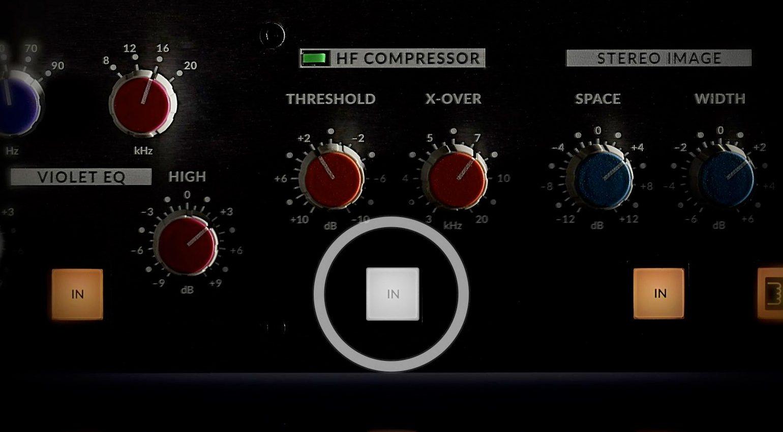 HF Compressor Button am SSL Fusion