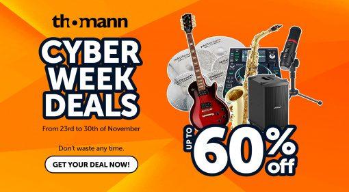 Thomann Cyberweek Deals mit unzähligen Angeboten - nicht nur zum Black Friday!