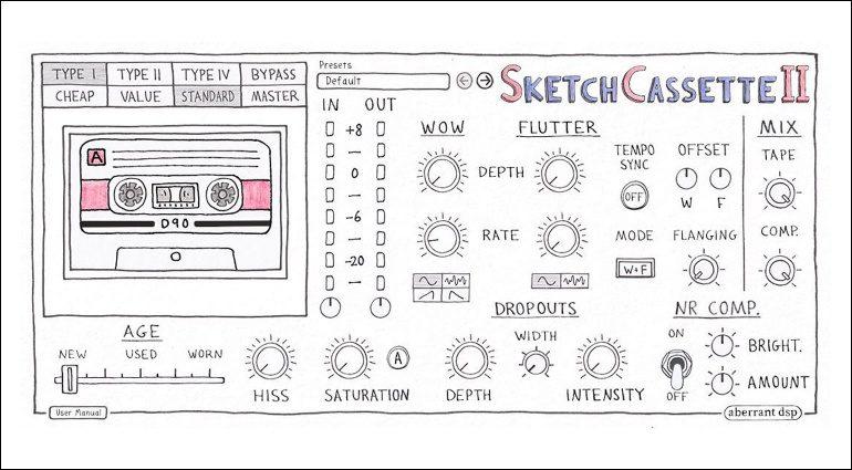 Aberrant DSP Sketch Cassette II: Tape-Emulation hoch 2!
