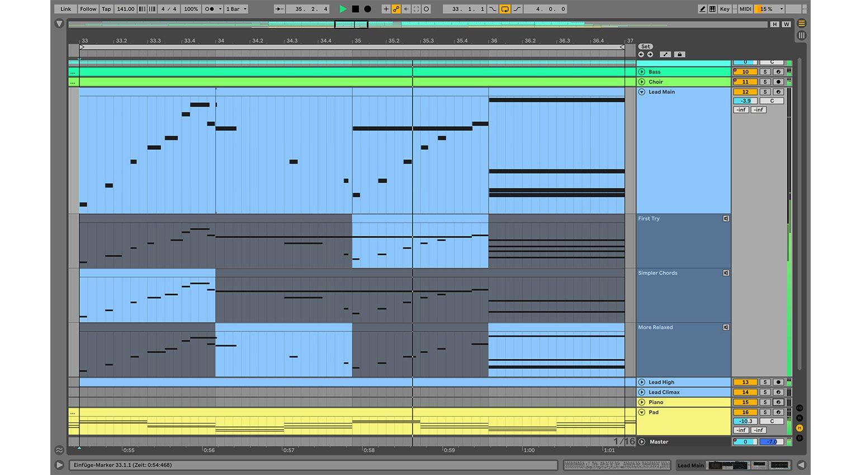 Ableton Live 11: MIDI-Comping