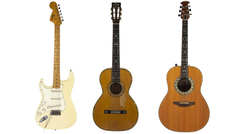 Jimi Hendrix Bob Marley Fender Stratocaster Ovation Akustikgitarre