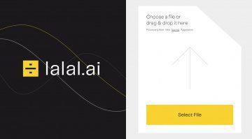 Lalal.ai Website extrahiert mit künstlicher Intelligenz Gesang aus Songs