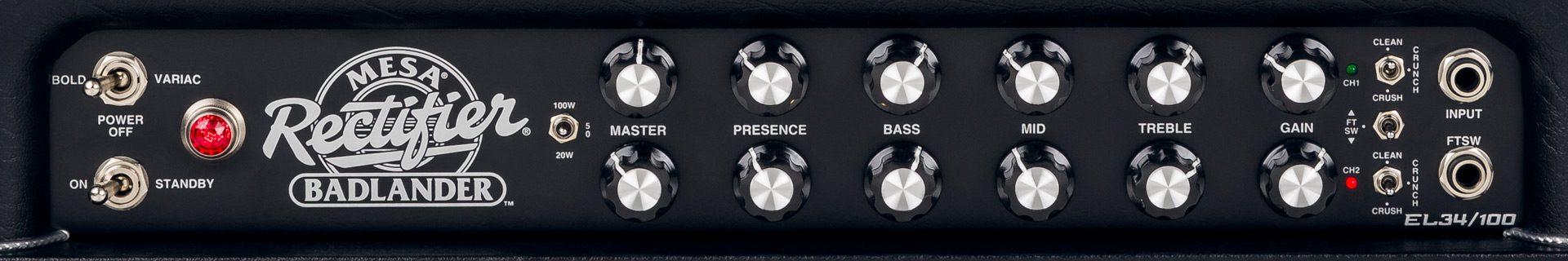 Mesa Boogie Badlander Topteil Panel Front