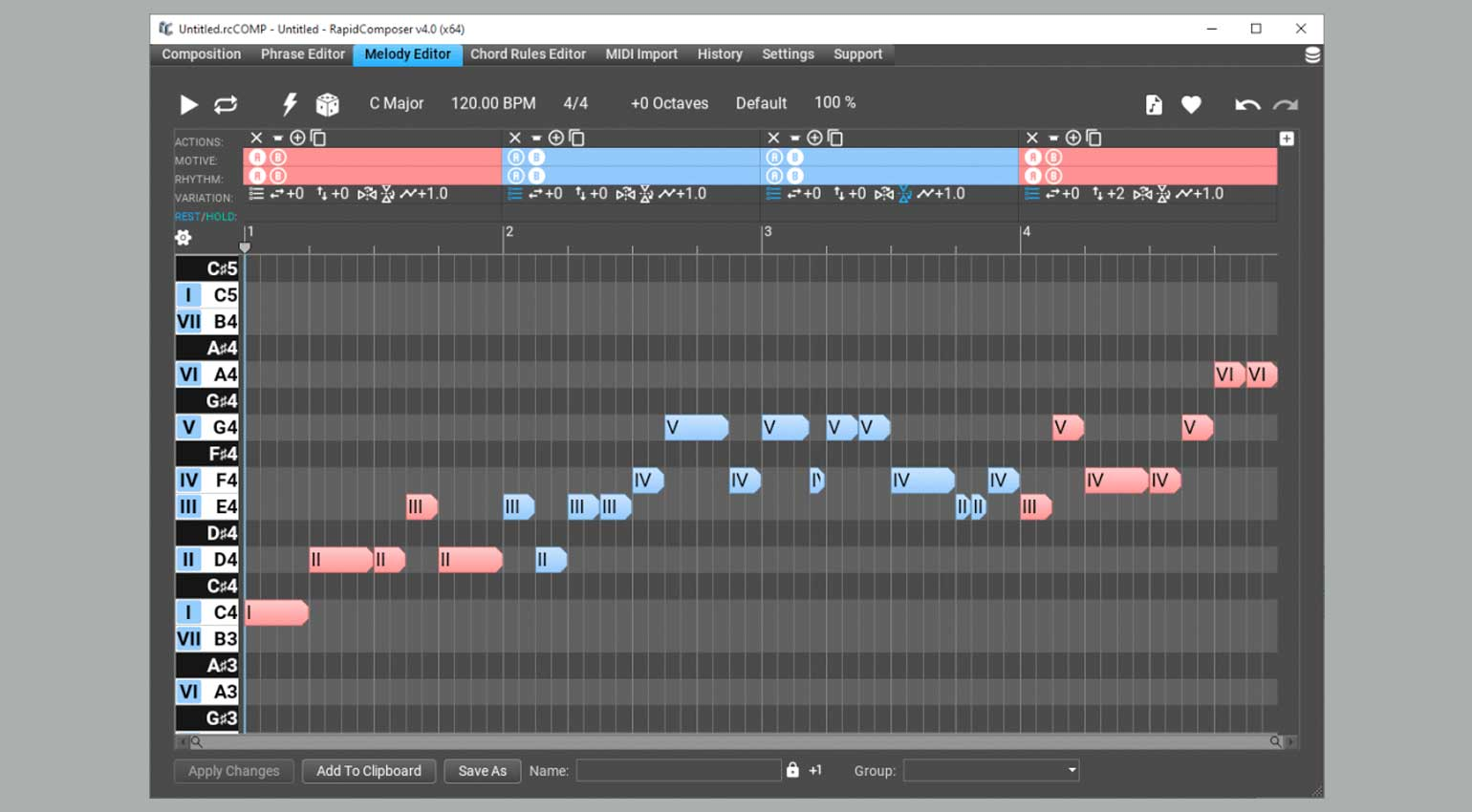 MusicDevelopments RapidComposer 4 Melody Editor
