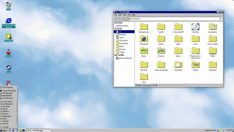TwisterOS Linux Windows 95 Look