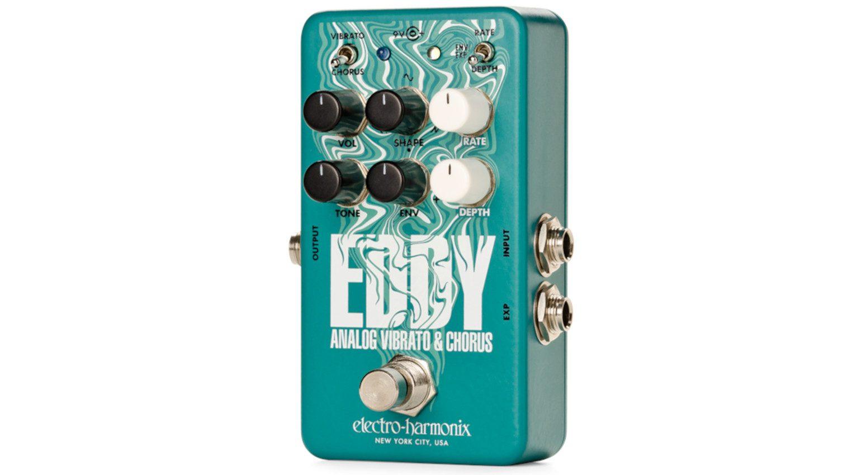 Electro Harmonix Eddy Chorus Vibrato Modulation Effekt Pedal Front