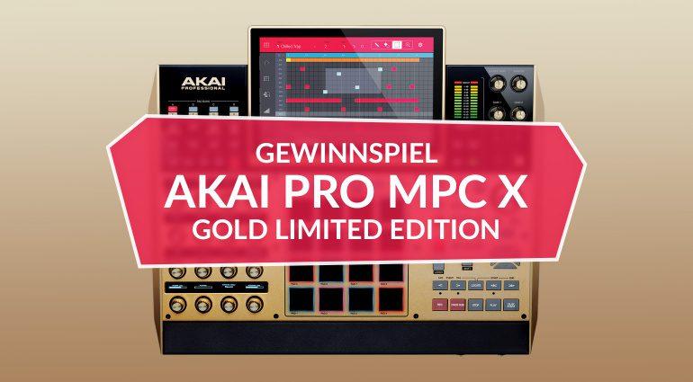 Gewinne eine AKAI Pro MPC X Gold Limited Edition!