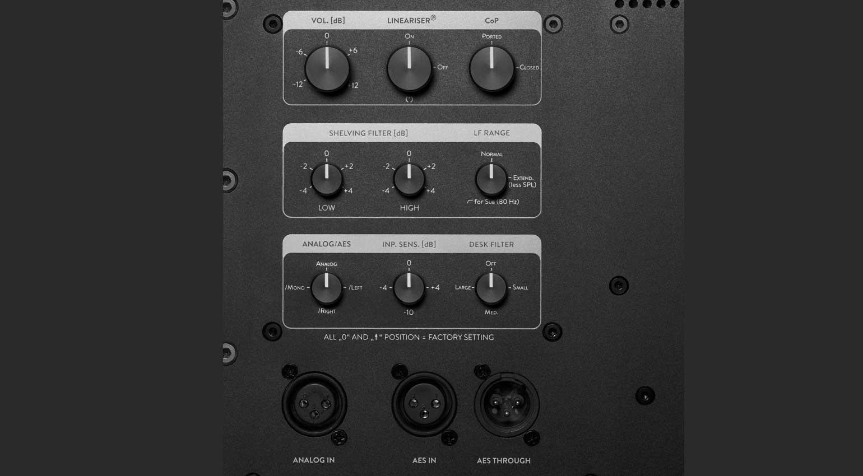 HEDD Audio MK2 Serie Monitor Backpanel
